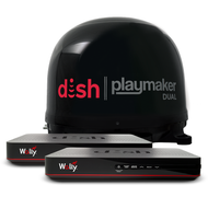 DISH Playmaker Dual 2 Receiver Bundle with Wally - Black