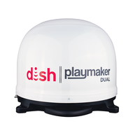 DISH Playmaker Dual Portable Satellite Antenna - White