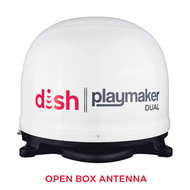 DISH Playmaker Dual Portable Satellite Antenna - White - Open Box