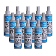 12 Pack of Liquid Hand Sanitizer Spray Bottles (8oz)