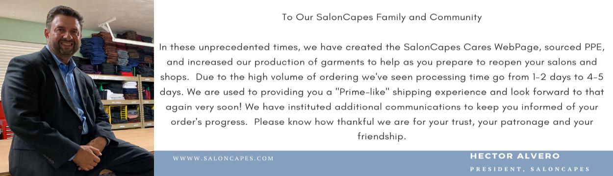 Saloncapes COVID Banner