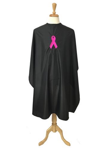 """Breast Cancer Awareness Chemical Cape with Pink Ribbon Logo - 50"""" x 60"""""""