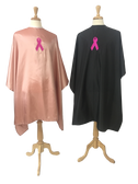 "Breast Cancer Awareness Hair Cutting Capes and Barber Capes with Pink Ribbon Logo -  60"" x 60"""