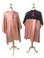 """Breast Cancer Awareness Salon Capes and Reversible Chemical Capes with Pink Ribbon Logo -  60"""" x 60"""" and 45"""" x 60"""""""