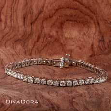 6.42ct Diamond Tennis Bracelet in 14K White Gold