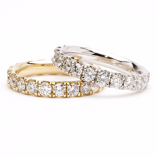 1.80ct Diamond Anniversary Ring Band in 14K Custom Gold Color