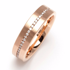 Diamond Eternity Band Brush Rose Gold