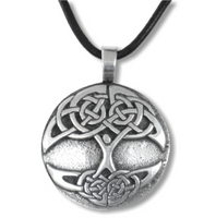 Celtic Tree of Life Pewter Blessing Necklace