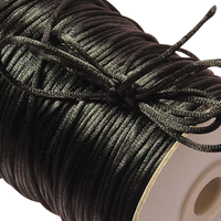 Spool of 2mm black satin cording