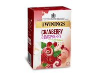 Twinings Cranberry & Raspberry & or Elderflower 20 tea bags