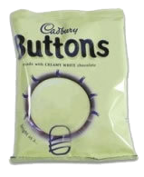 chocolate white buttons