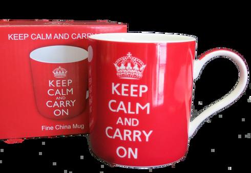 keep calm Winston Churchill saying mug