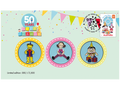 Stamp and medallion cover - 50 Years of Play School