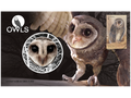 Stamp and medallion cover - Owls 2106