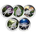 Age of Dinosaurs 2015 Australia Perth Mint $1 Pure Silver Coins Full Set of 5
