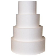 "Foam Round Dummy Cakes 4"" High 120mm"