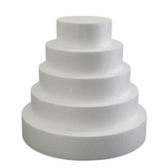 "Foam Round Dummy Cakes 3"" High 75mm"