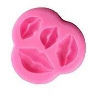 Lips 4pc Silicone Mould