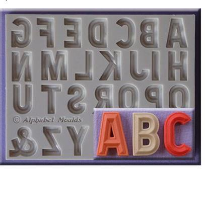 Classic Alphabet Letter Silicone Mold