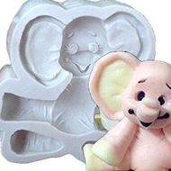 Sitting Elephant - Baby Silicone Mould