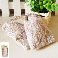 Shmick Hessian/Lace Favour Bags 2 pk