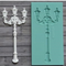 Ornate antique street lamp silicone mould