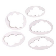 5pc Clouds Plastic Cutter Set