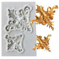 Damask 2pc Silicone Mould