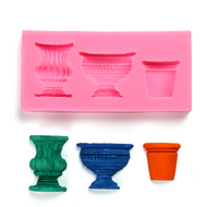 Garden Pots Silicone Mould 3pc