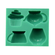 Tea Time 4pc Silicone Mould