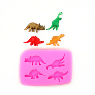 Dinosaurs Cupcake Size Mould 4pc