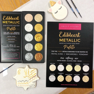 Edible Art Metallic Food Paint Palette - Water Activated