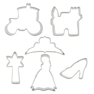 Princess Themed 6pc Tin Plate Cutter Set