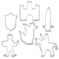 Knight & Castle Themed 6pc Tin Plate Cutter Set