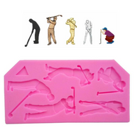 Golf Players Silicone Mould