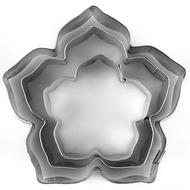 Hibiscus/Petunia 3pc Tin Plate Cutter Set