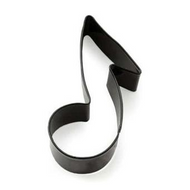 Music Note Tin Plate Cookie Cutter (Fox Run)