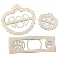 Princess Carriage 3pc Plastic Cutter Set
