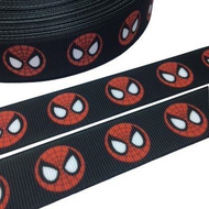 Spiderman Mask Novelty Print Ribbon 22mm