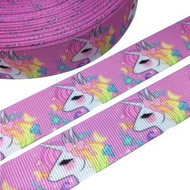Unicorn Pastel Novelty Printed Ribbon 22mm