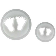 Baby Feet 2pc Plastic Cutter Set