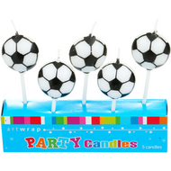 Soccer Ball 5pc Candles