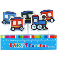 Train 5pc Candle Set