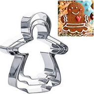 Gingerbread Girl Cutters Set 3 pc