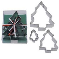 Christmas Tree Tin Plate Cutter 3pc