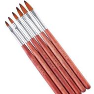 Meier 6pc Wooden Brush Set