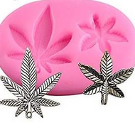Hemp Leaf Silicone Mould 2pc