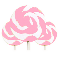 Medium Pink and White Swirl Lollipop