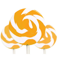 Medium Orange and White Swirl Lollipop