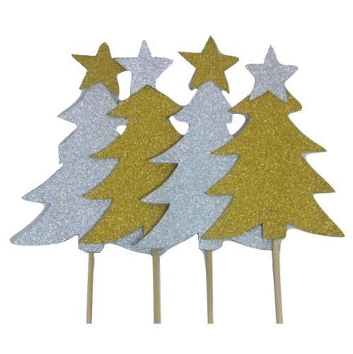 Christmas Tree Glitter Topper Pack